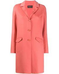 Loro Piana Однобортное Пальто Средней Длины - Розовый
