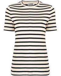 Jil Sander - ストライプ Tシャツ - Lyst