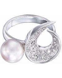 Tasaki 18kt Witgouden Ring - Metallic