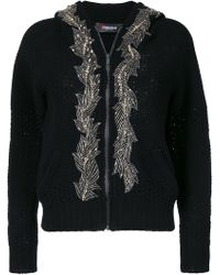 Jo No Fui - Embellished Hooded Cardigan - Lyst