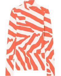 Proenza Schouler Трикотажный Топ С Высоким Воротником И Принтом - Оранжевый