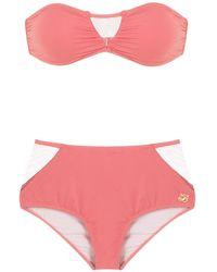 Brigitte Bardot Bandeau Bikini Set - Pink