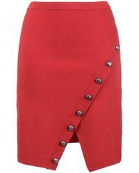 Pinko - Raw Edge Wrap Style Skirt - Lyst