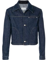 Maison Margiela Fitted Denim Jacket - Blauw