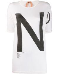 N°21 ロゴ Tシャツ - ホワイト