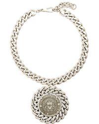 Balmain - Chunky Medallion Necklace - Lyst