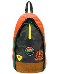 c05a651e6d0b Lyst - Polo Ralph Lauren Bear Motif Leather Backpack in Black