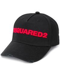 DSquared² Honkbalpet Met Geborduurd Logo - Zwart