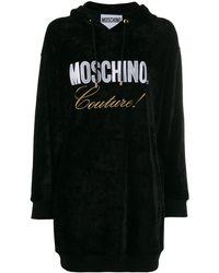 Moschino ロゴ フーデッドドレス - ブラック