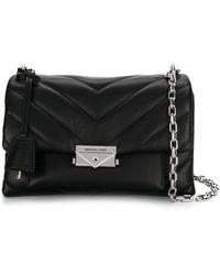 Michael Kors Cece Medium Quilted Leather Convertible Shoulder Bag - Black