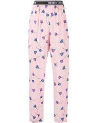 Markus Lupfer Kamile Floral Print Track Trousers - Pink