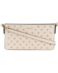 DKNY - Studded Logo Shoulder Bag - Lyst