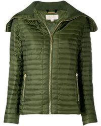 MICHAEL Michael Kors - Long Sleeved Zipped Jacket - Lyst