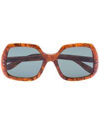 Gucci - Lunette de soleil à monture carrée - Lyst