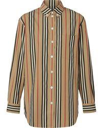 Burberry - Рубашка В Полоску Icon Stripe - Lyst