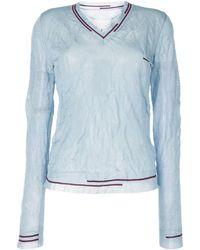 Maison Margiela Camiseta con efecto arrugado - Azul
