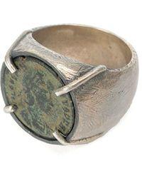 Tobias Wistisen Ring aus Silber - Mettallic