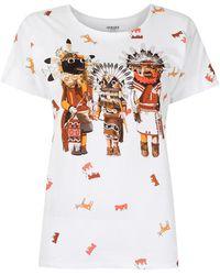 Hermès - Camiseta con estampado de máscaras pre-owned - Lyst