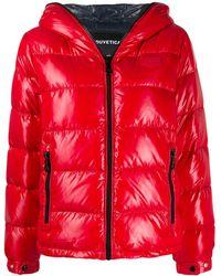 20088fdba Shiny Hooded Puffer Jacket - Red