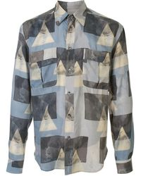 Giorgio Armani Graphic Print Shirt - Blue