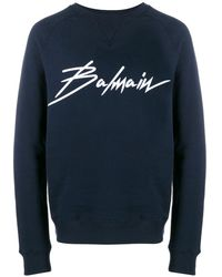 Balmain ロゴ スウェットシャツ - ブルー