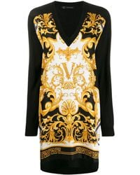 "Versace - Kleid mit ""Barocco Rodeo""-Print - Lyst"