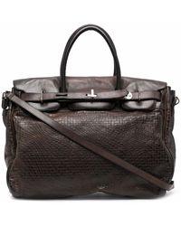 Numero 10 Richmond Croc-effect Tote Bag - Brown