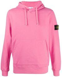 Stone Island Худи С Нашивкой-логотипом - Розовый