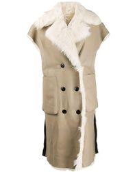 DIESEL Reversible Sleeveless Shearling Coat - Natural