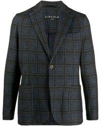 Circolo 1901 チェック ジャケット - ブルー