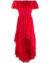 Giamba オフショルダー ドレス - レッド