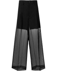 Toga Pulla - Wide Leg Layered Trousers - Lyst