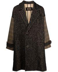 Uma Wang Manteau oversize à manches contrastantes - Noir