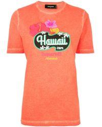 DSquared² - Hawaii Print T-shirt - Lyst