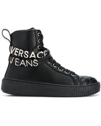 Versace Jeans - Quilted Hi-top Trainers - Lyst