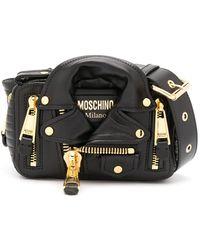 Moschino Biker Belt Bag - Black
