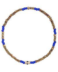 Luis Morais - Small Blue Sapphire Barrel Bracelet - Lyst