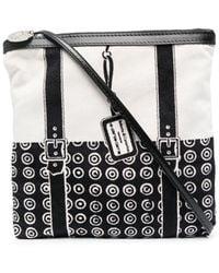 10 Corso Como Geometric-print Panelled Crossbody Bag - White