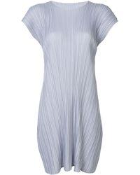 Pleats Please Issey Miyake Mellow Pleats ドレス - ブルー