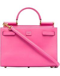 Dolce & Gabbana Сумка-тоут Sicily 62 Среднего Размера - Розовый