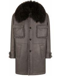 Dolce & Gabbana Однобортное Пальто Длины Миди - Серый