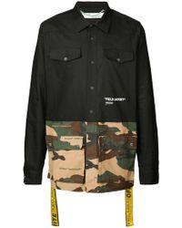 98a7f6e8c2f0 Off-White c o Virgil Abloh - Hemd mit Camouflage-Einsätzen - Lyst