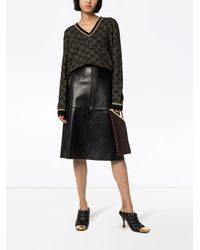 Gucci - ホースビット レザースカート - Lyst
