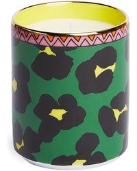 LaDoubleJ Flower Leopard Candle (250g) - Green