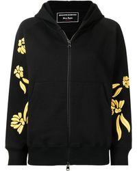Ermanno Scervino Chaqueta con bordado floral - Negro