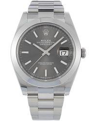 Rolex Montre Pyster Perpetual Datejust 41 mm (non portée) - Gris