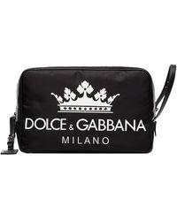 Dolce & Gabbana Neceser DG con logo - Negro