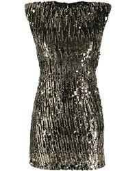 Pinko Платье Мини С Вышивкой Пайетками - Черный