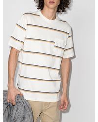 WOOD WOOD Bobby ストライプ Tシャツ - ホワイト
