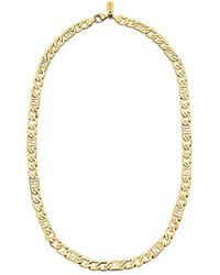 Fendi Ff Link Chain Necklace - Metallic